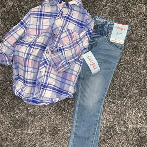 NEW girls SET. Jeans+Shirt
